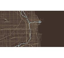 Chicago Map (Autumn) Photographic Print
