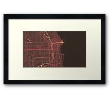 Chicago Map (Summer) Framed Print