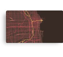 Chicago Map (Summer) Canvas Print