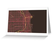 Chicago Map (Summer) Greeting Card