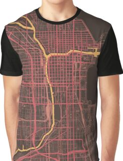 Chicago Map (Summer) Graphic T-Shirt
