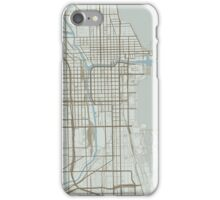 Chicago Map (Winter) iPhone Case/Skin