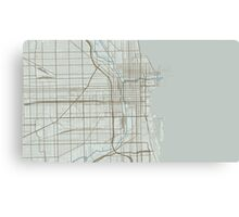 Chicago Map (Winter) Canvas Print