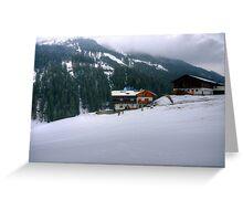 Saalbach, Austria Greeting Card