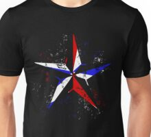 American Flag Nautical Star - Grunge Unisex T-Shirt