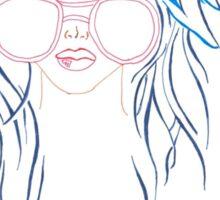 girl with sunglasses  Sticker
