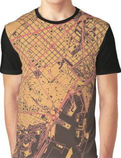 Barcelona Map (Summer) Graphic T-Shirt