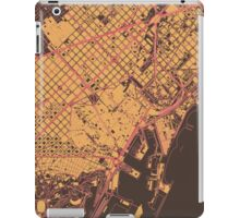 Barcelona Map (Summer) iPad Case/Skin