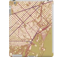 Barcelona Map (Autumn) iPad Case/Skin