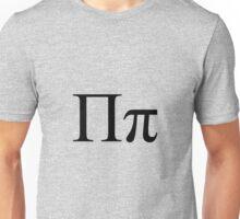Pi, Greek, uppercase, lowercase Unisex T-Shirt