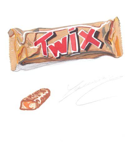 twiix mars bar chocolate realistic drawing Sticker