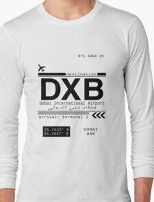 DXB Dubai International Airport Call Letters Long Sleeve T-Shirt