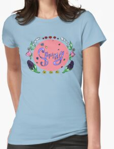 Spring with flower Womens Fitted T-Shirt