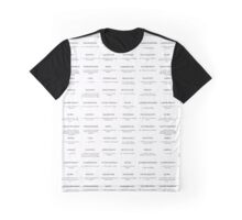 A-Z Clear Compilation Graphic T-Shirt