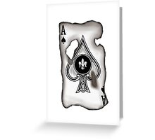 Burnt Ace Greeting Card