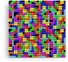 Tetris Inspired Retro Gaming Colourful Squares Canvas Print