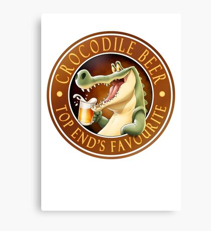 Crocodile Beer Canvas Print