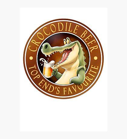 Crocodile Beer Photographic Print