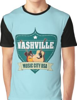 Vintage Nashville Music City Graphic T-Shirt