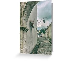 Colonial Street of Arequipa City Peru Greeting Card