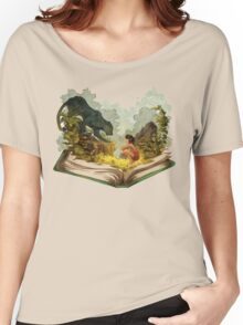 The Book Of Jungle Mowgli n Bagheera Women's Relaxed Fit T-Shirt