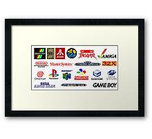 arcade logos videogames consolas Framed Print