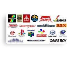 arcade logos videogames consolas Canvas Print