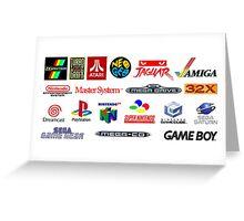 arcade logos videogames consolas Greeting Card