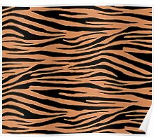 0567 Raw Sienna Tiger Poster