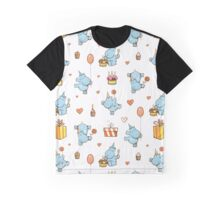 Pattern with hippos. Graphic T-Shirt