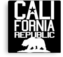 California Republic Bear Canvas Print