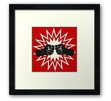 Fist bump Framed Print
