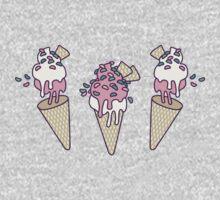 Pink Party Icecream One Piece - Short Sleeve