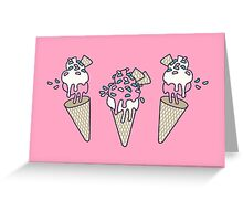 Pink Party Icecream Greeting Card