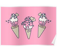 Pink Party Icecream Poster