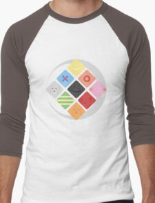 Phases of Silly Faces Men's Baseball ¾ T-Shirt