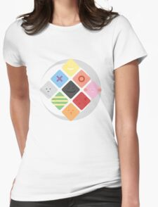 Phases of Silly Faces Womens Fitted T-Shirt