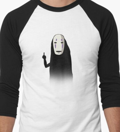 No Face and a Bird Men's Baseball ¾ T-Shirt