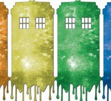 Rainbow Galaxy Tardis Sticker