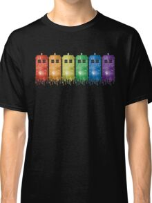 Rainbow Galaxy Tardis Classic T-Shirt