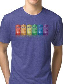 Rainbow Galaxy Tardis Tri-blend T-Shirt
