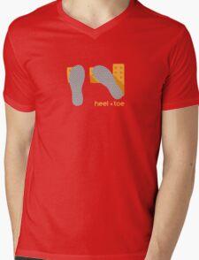 heel toe Mens V-Neck T-Shirt