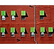 Wall in Red and Green Photographic Print