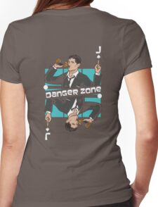Archer Danger Zone Jack Card Womens Fitted T-Shirt