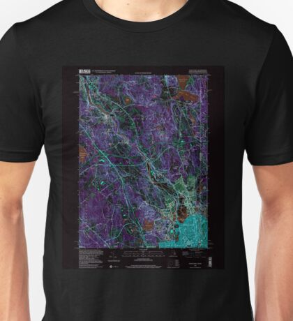 USGS TOPO Map Rhode Island RI Pawtucket 353337 1998 24000 Inverted Unisex T-Shirt