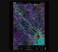 USGS TOPO Map Rhode Island RI Pawtucket 353337 1998 24000 Inverted Unisex T-Shirt