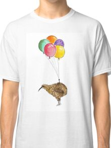 Kiwi flying with balloons Classic T-Shirt
