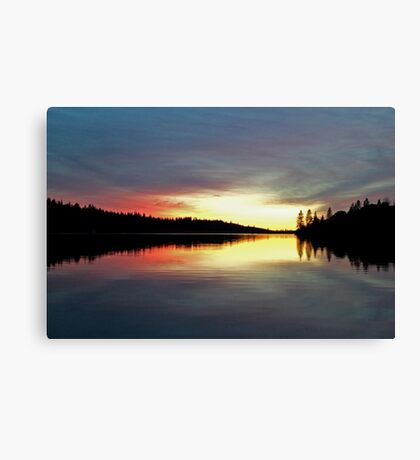 Sunset on Rollins Lake Canvas Print