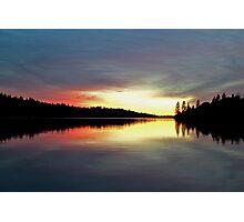 Sunset on Rollins Lake Photographic Print