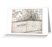Plan of the city of Philadelphia - 1776  Greeting Card